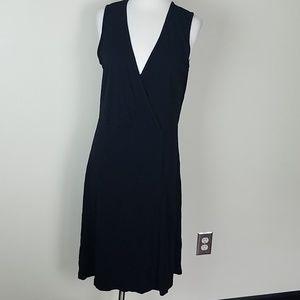 ***SOLD***Eddie Bauer Short Sleeve Black Dress L